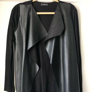 Zara leather sweater